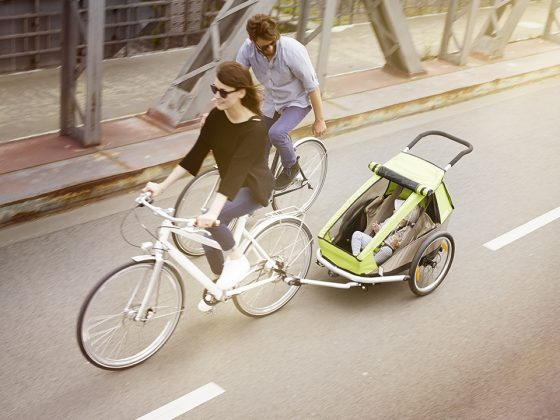 Croozer Kid bike trailer from above